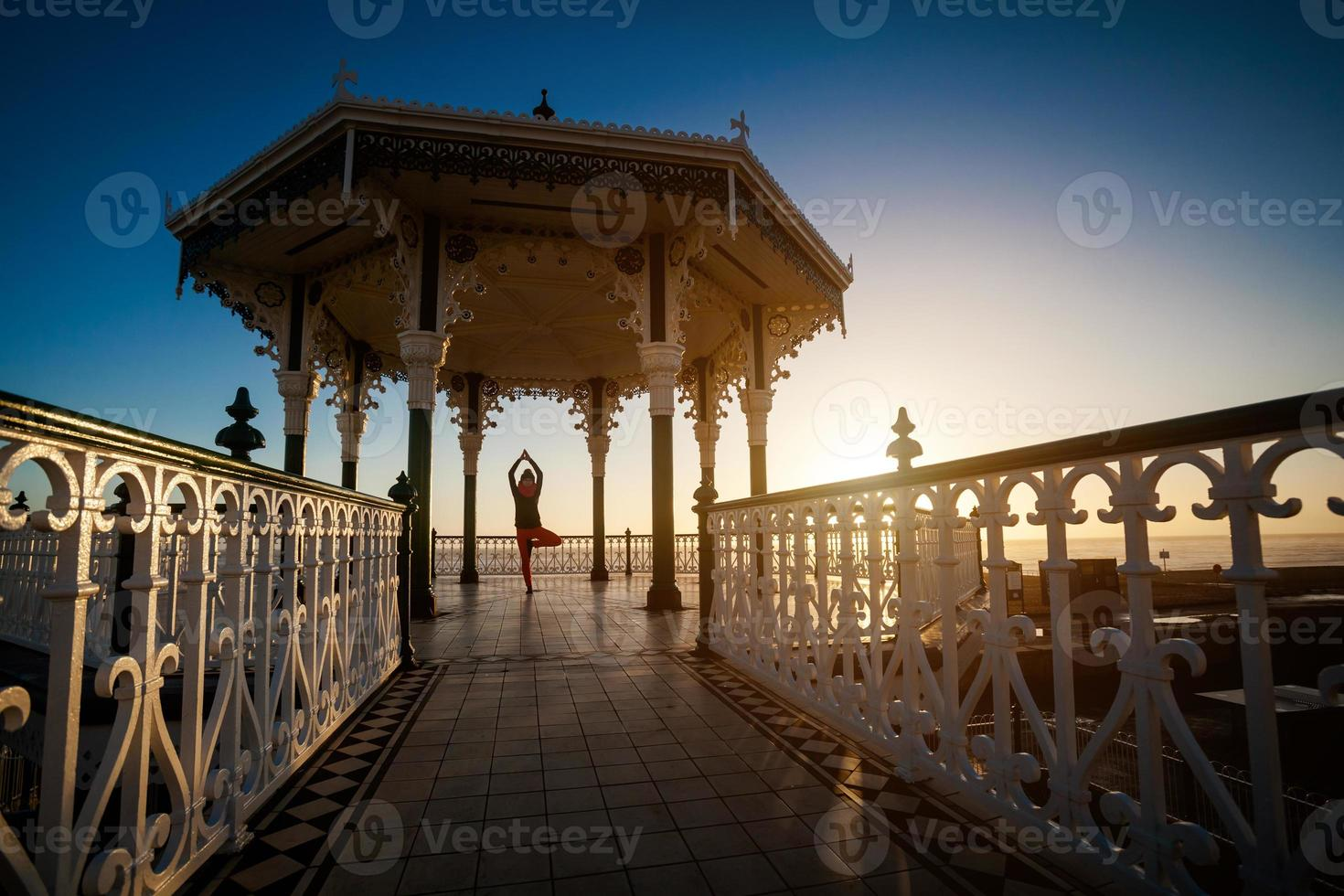 Yoga session in beautiful place photo