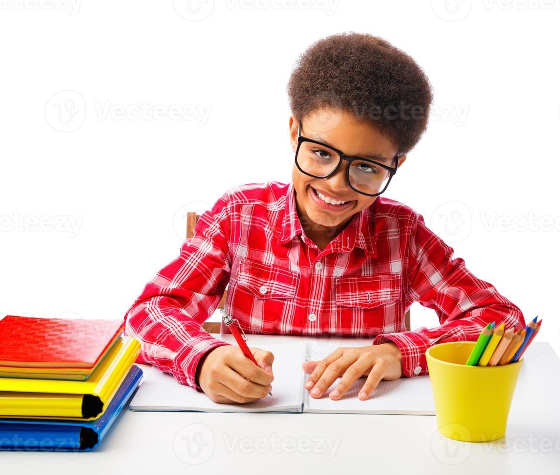 African American schoolboy photo