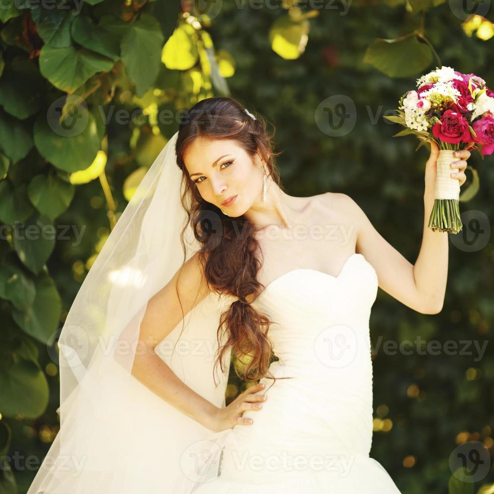 young caucasian bride photo