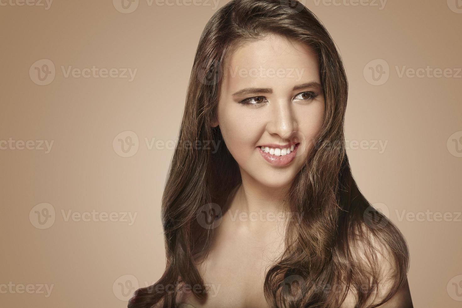 positive caucasian girl photo