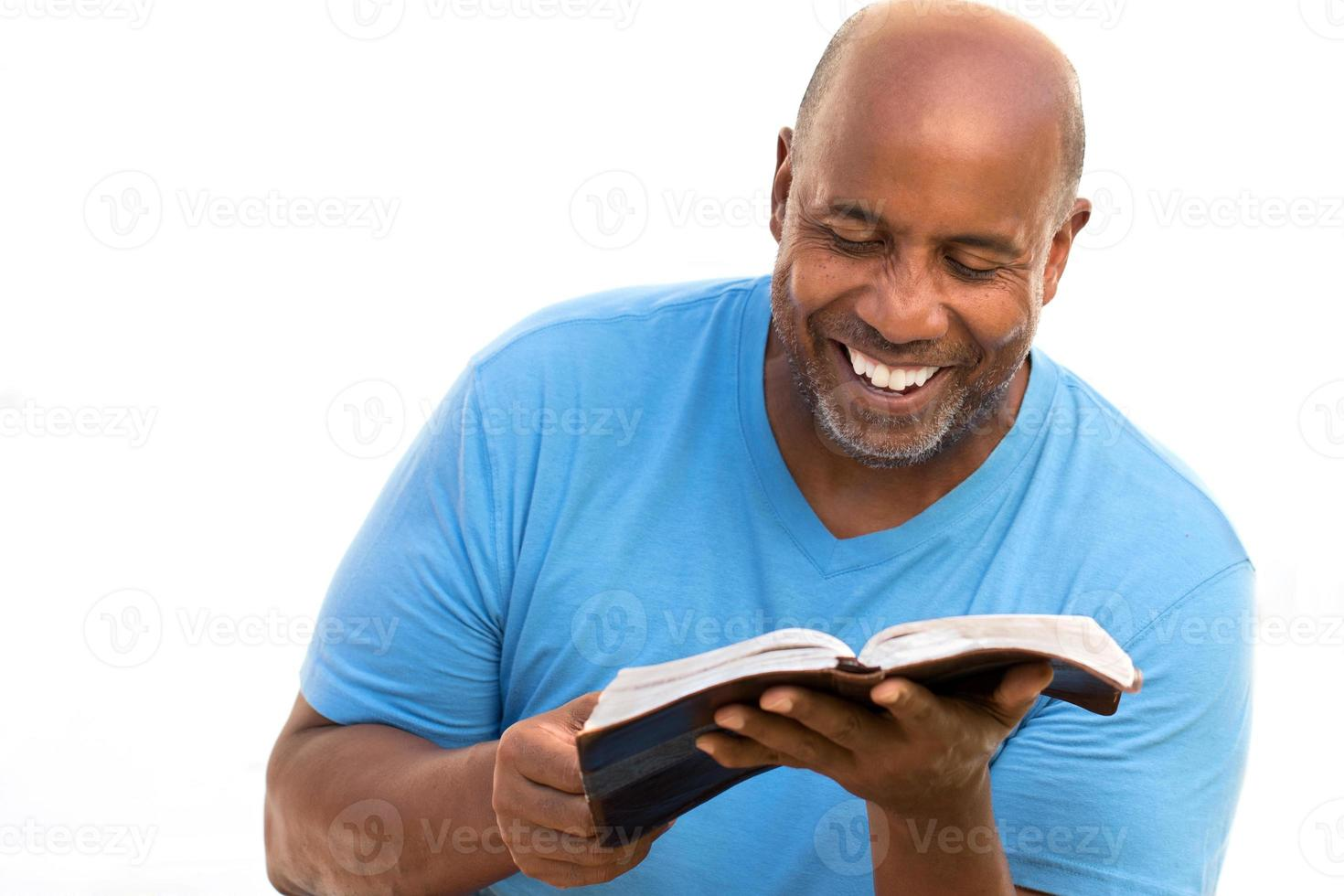 African American man reading. photo
