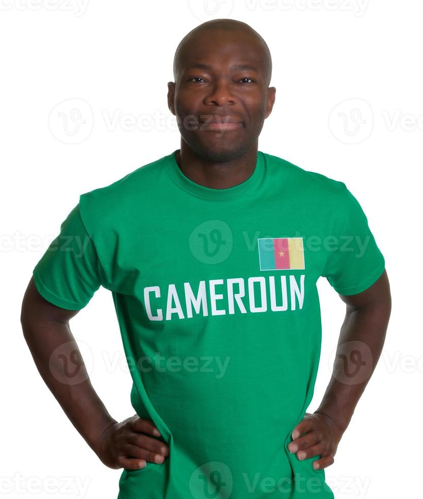 sonriente fanático de los deportes de Camerún foto