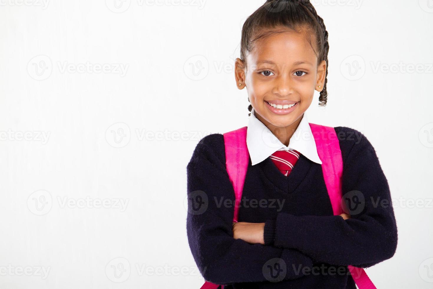 Retrato de colegiala primaria foto