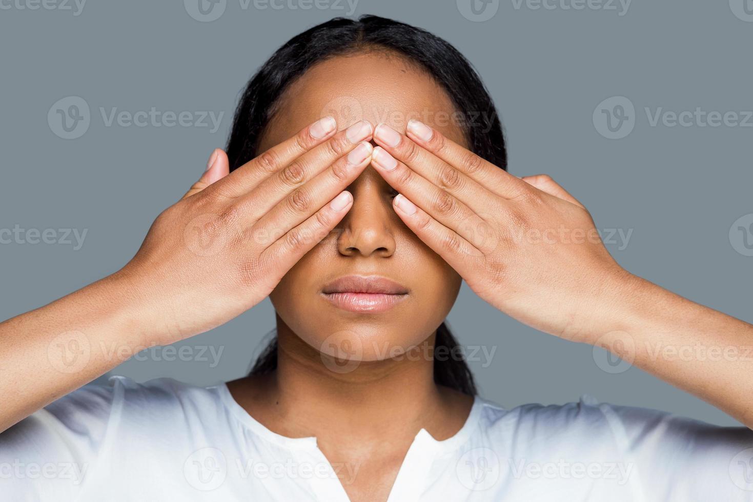 I see nothing. photo