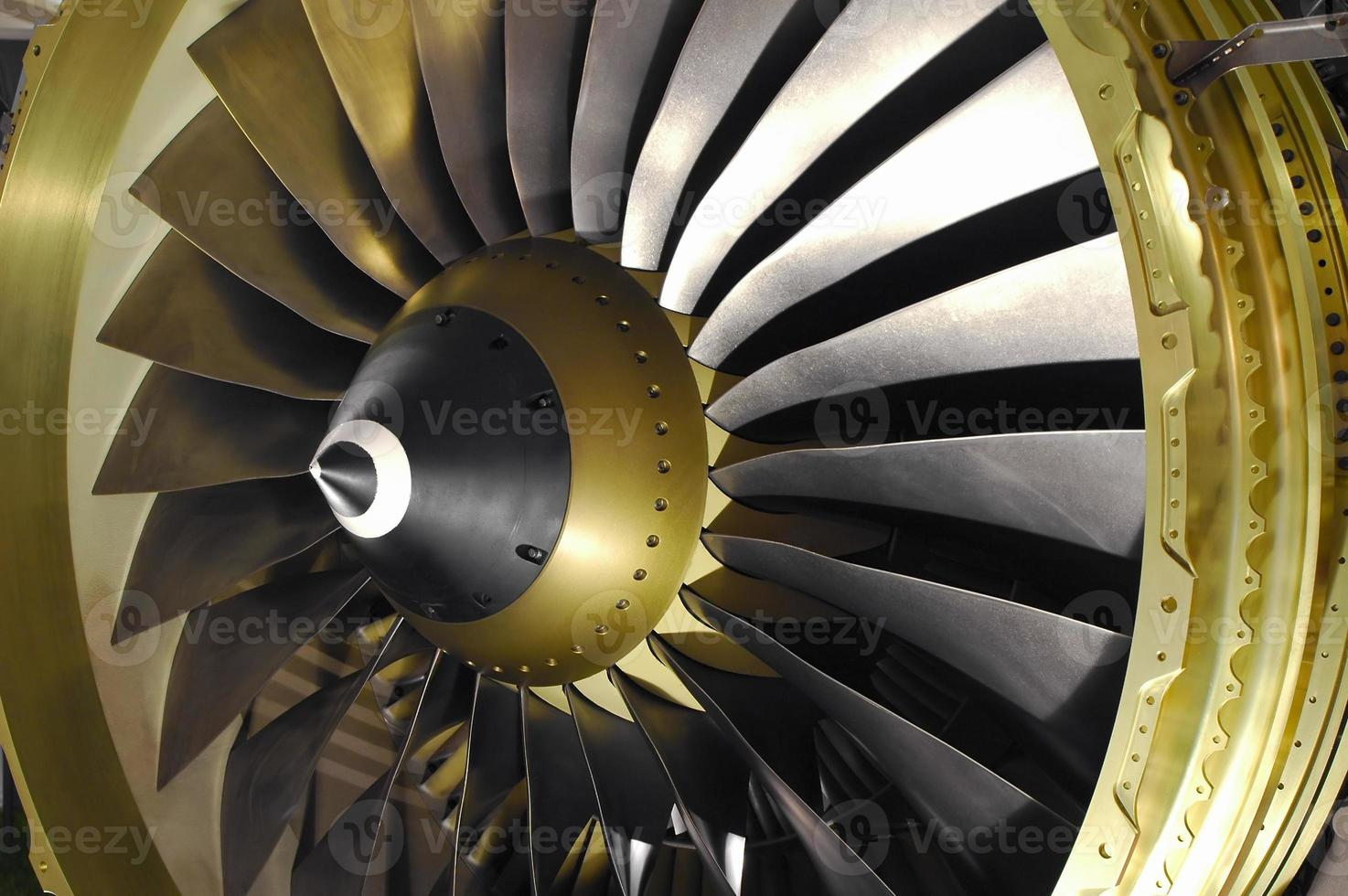 Computer generated imagery of jet engine blades photo