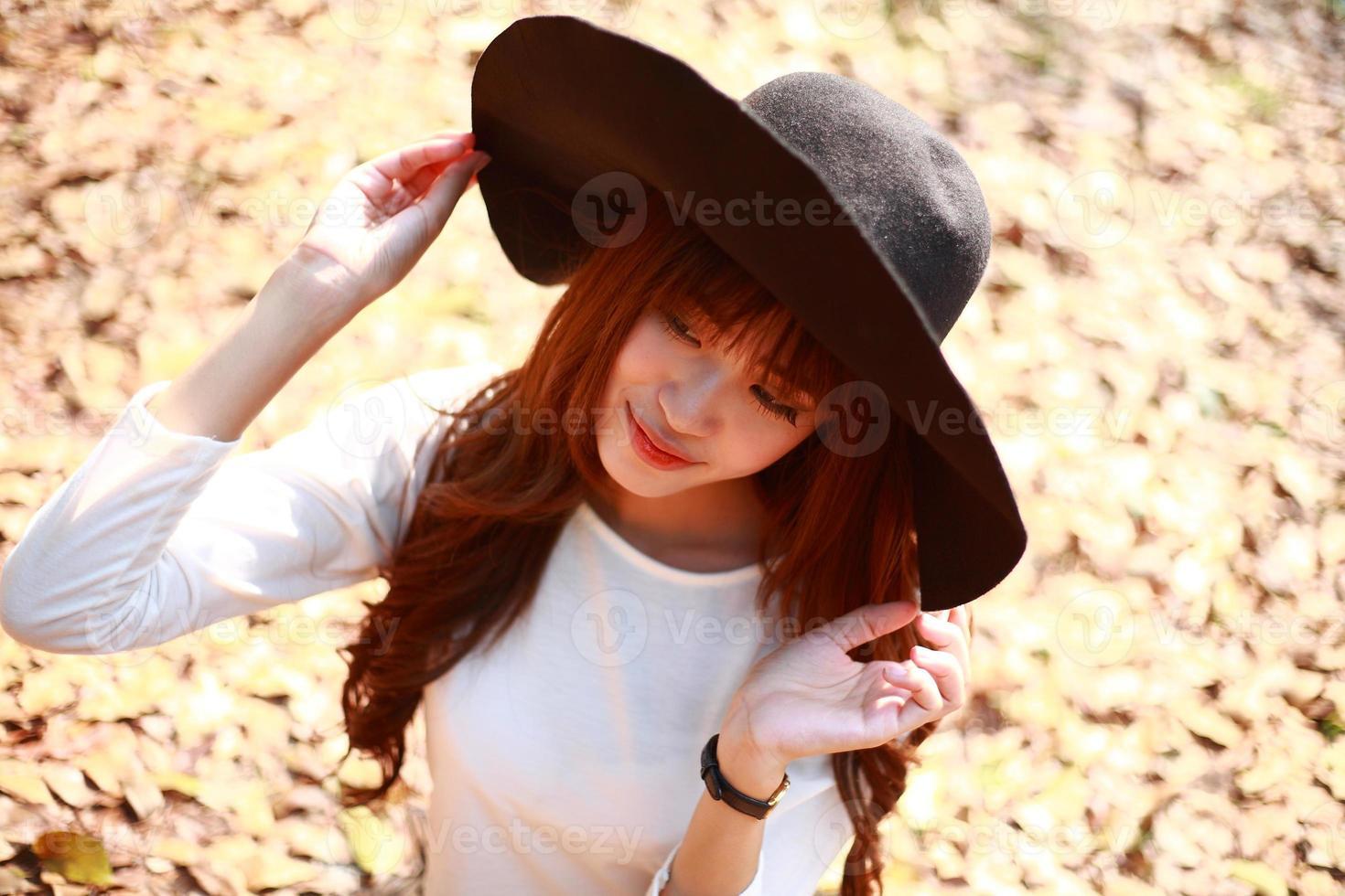 hermosa chica asiática foto