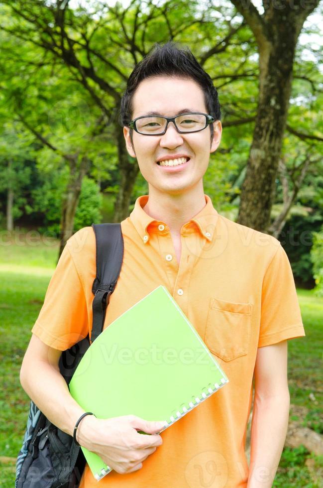 estudiante universitario asiático foto