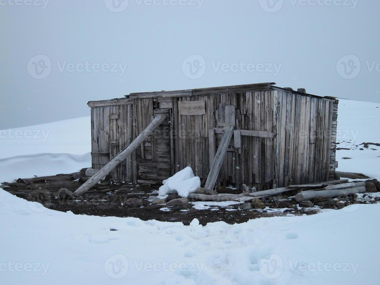 Abandoned trappers cabin, Svalbard, Norway. photo