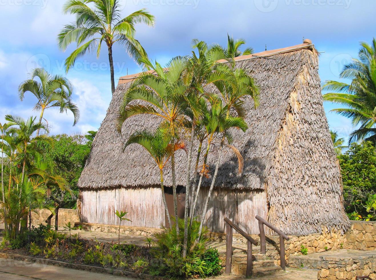 cabaña de la isla del pacífico sur foto