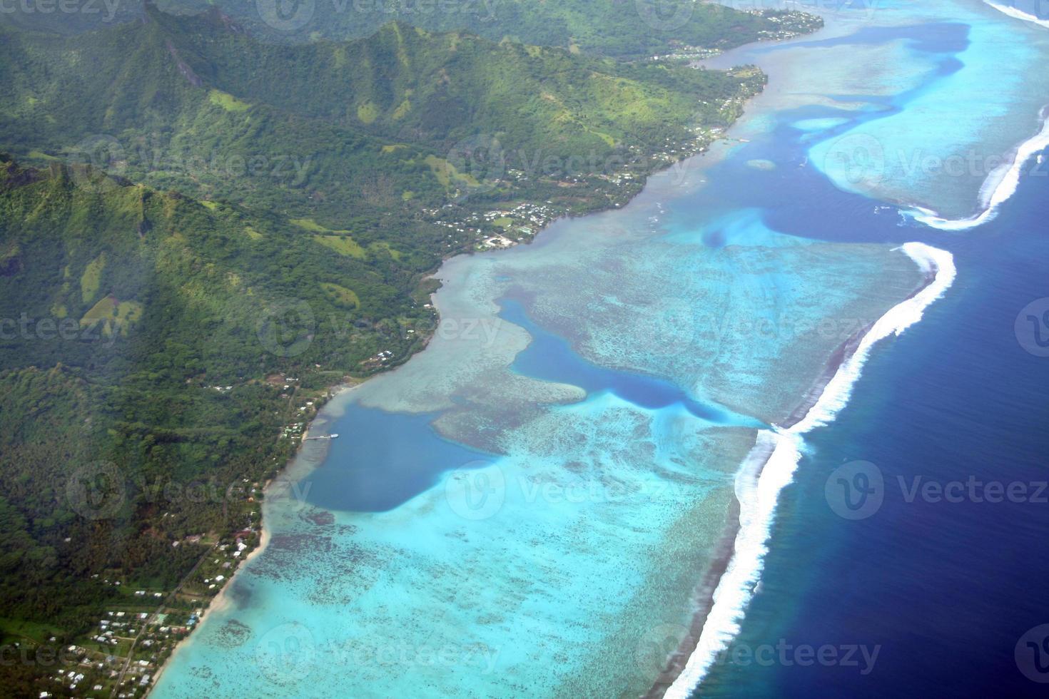Pacific island lagoon photo