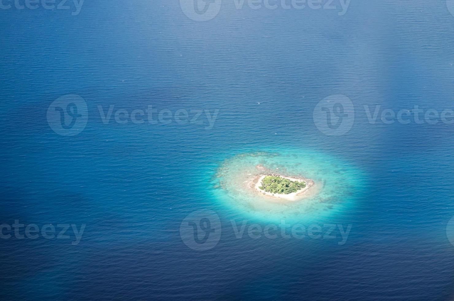 Uninhabited island in the Pacific photo