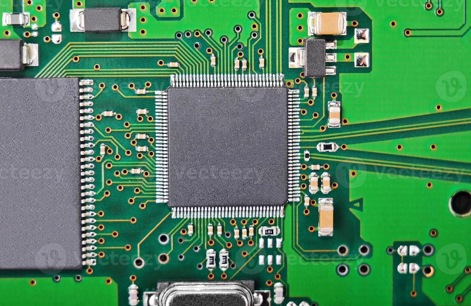 Circuit board background, DOF photo