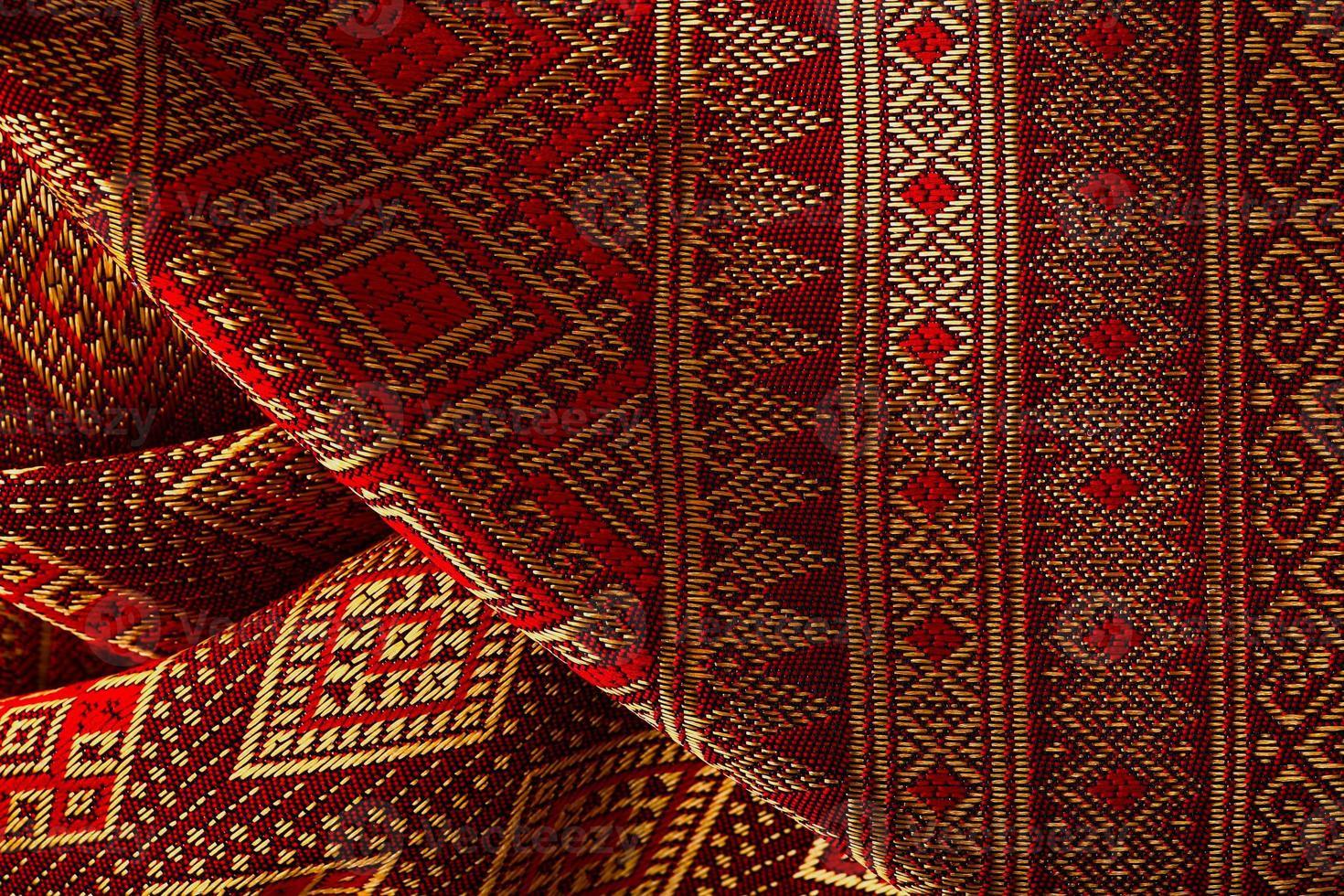 Antique Asian textile photo