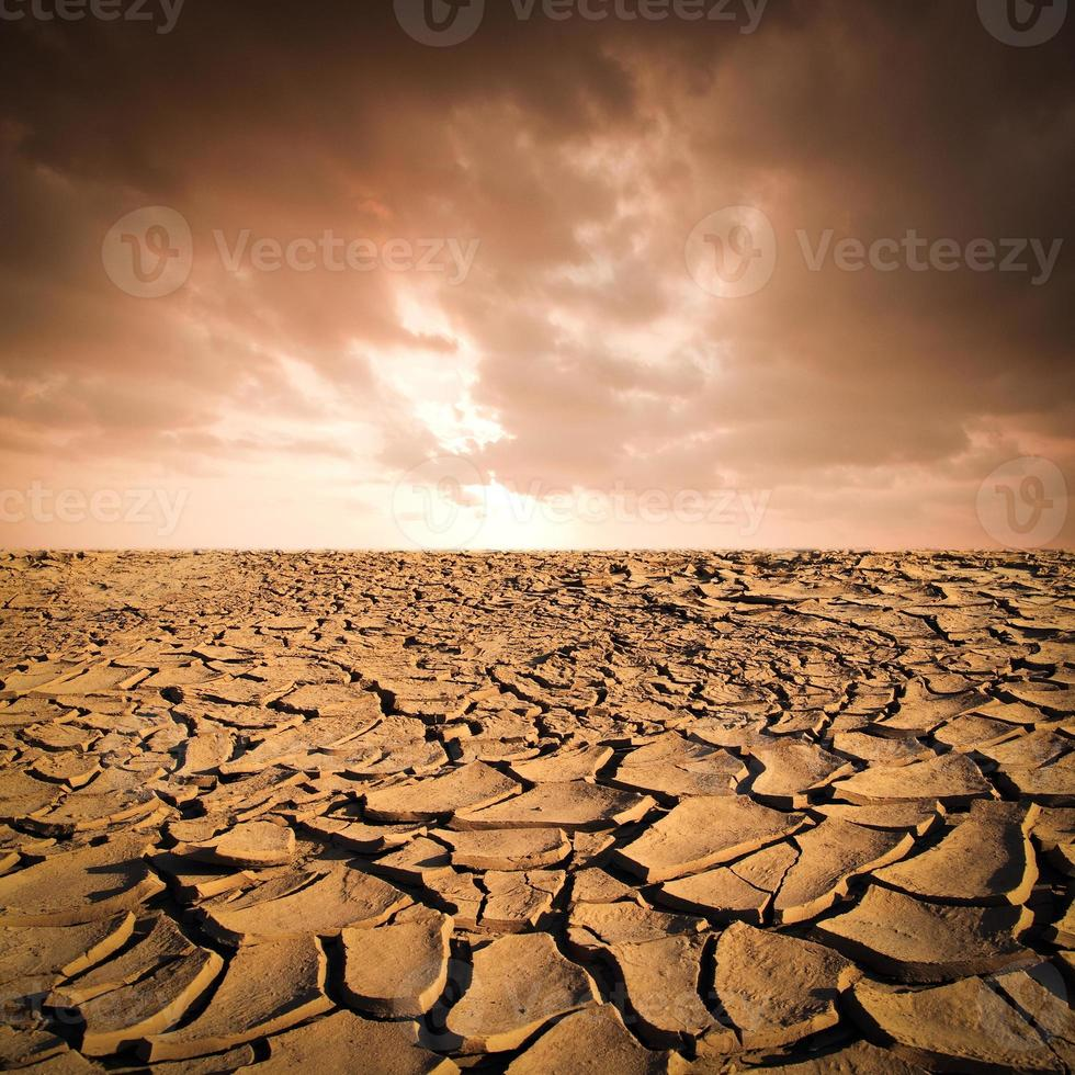 Dry cracked earth background photo