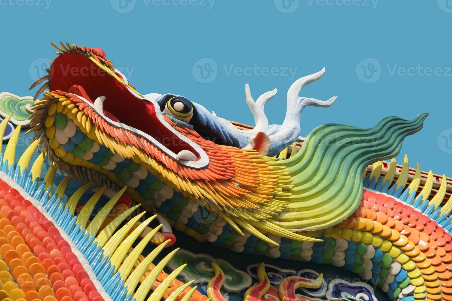 dragón asiático del templo foto