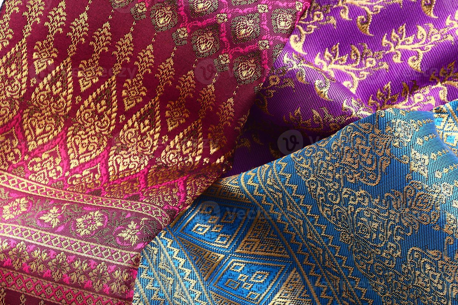 têxtil asiático antigo foto