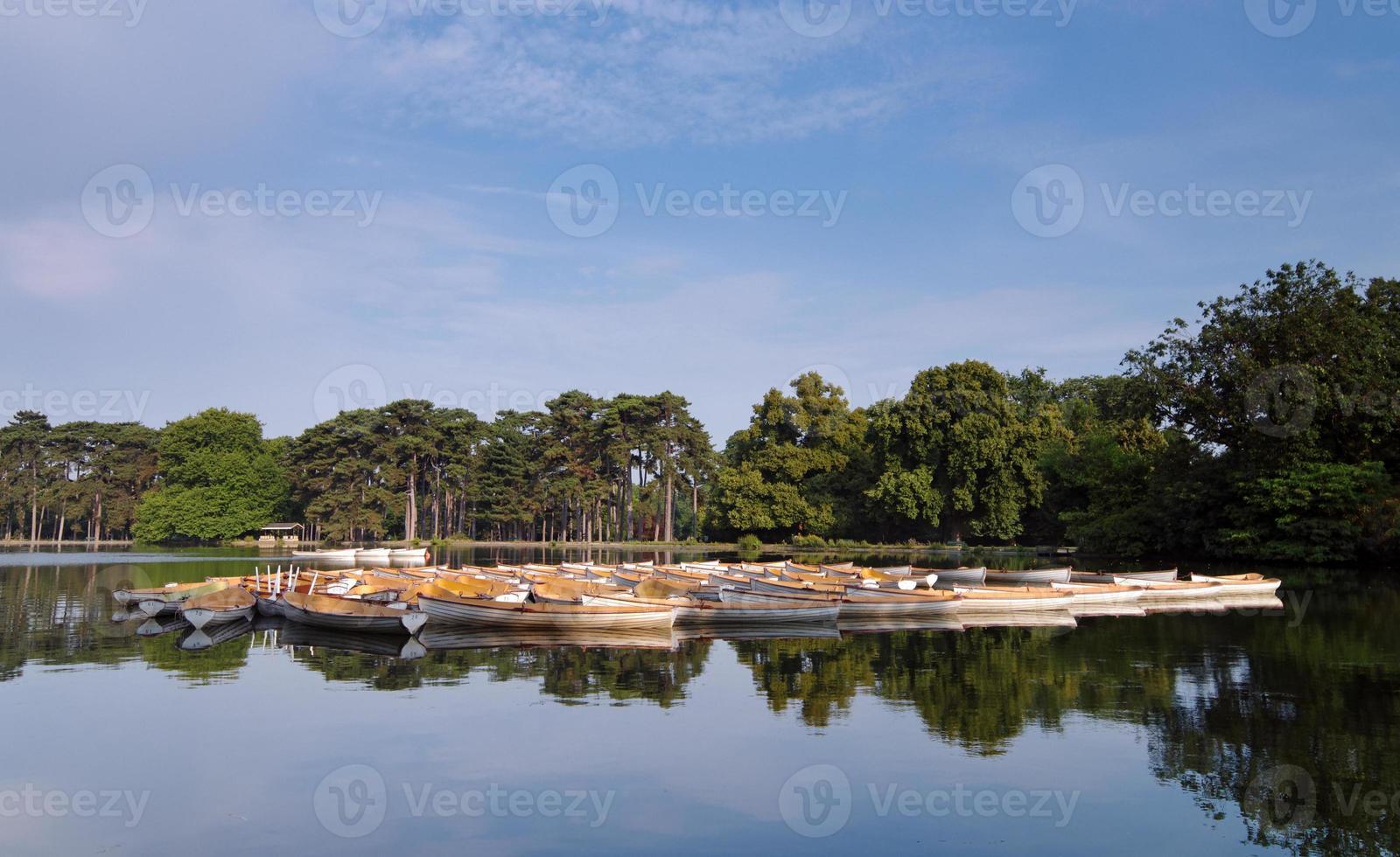 Paris,rowing boats in  bois de Boulogne photo