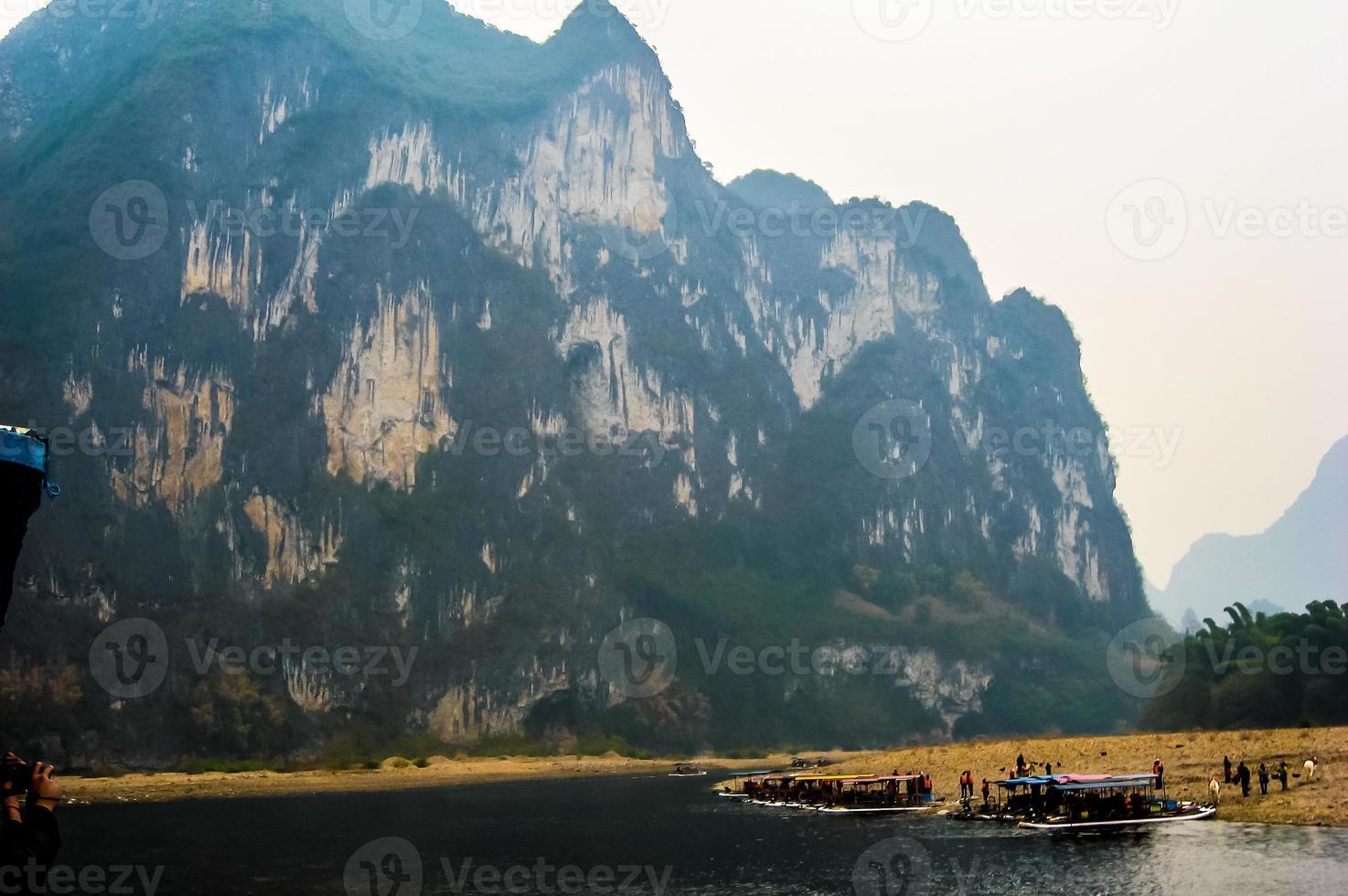 The Mountain of Nine Horses in Guilin, Guangxi China photo
