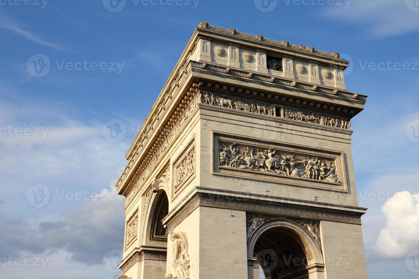 arco triunfal de París foto