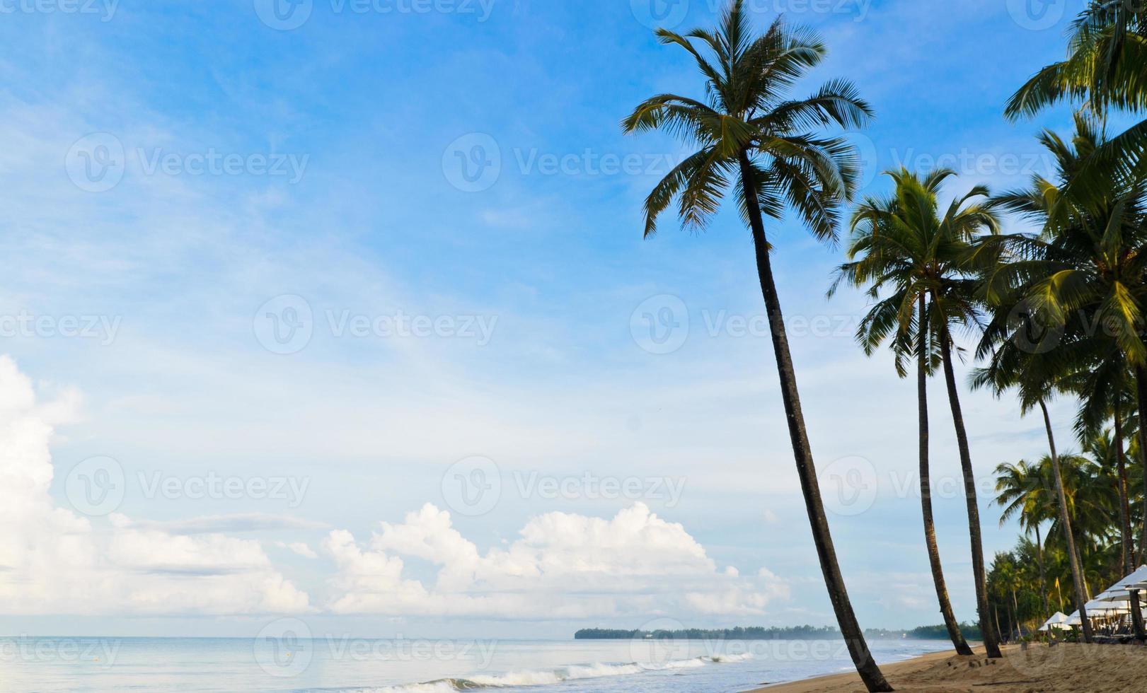 Perfect tropical island paradise beach photo