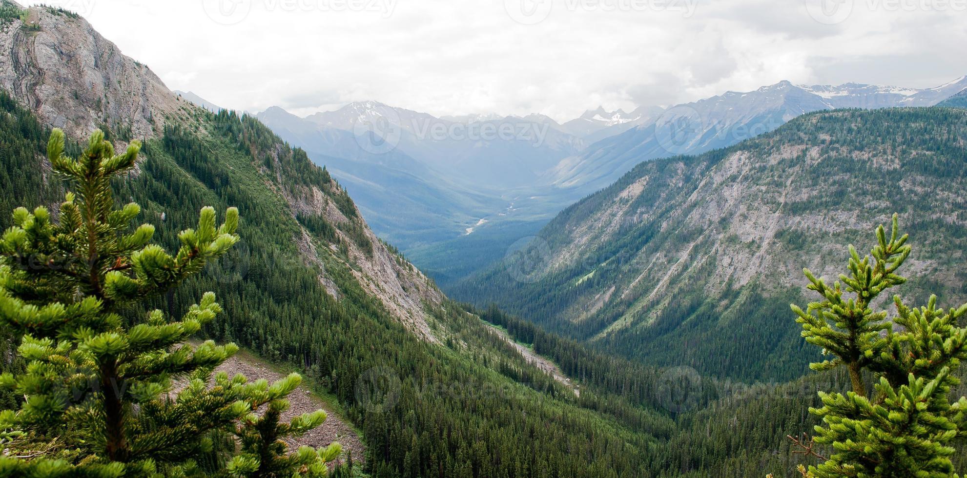 Alberta overlook into British Columbia photo
