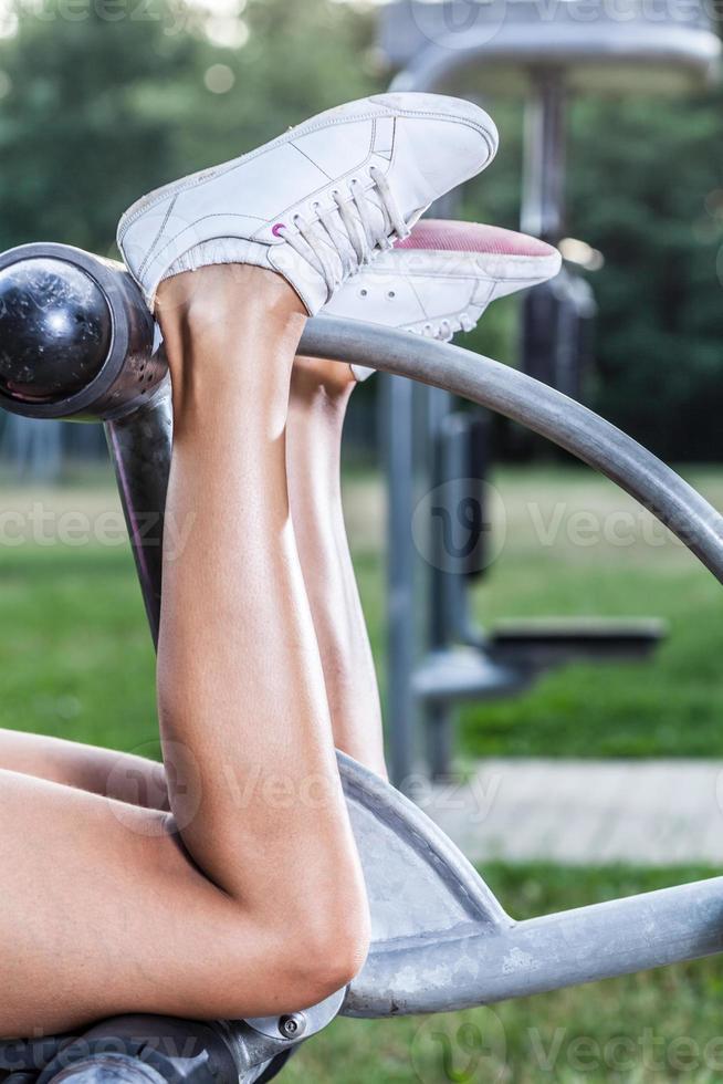 Muscular calves photo