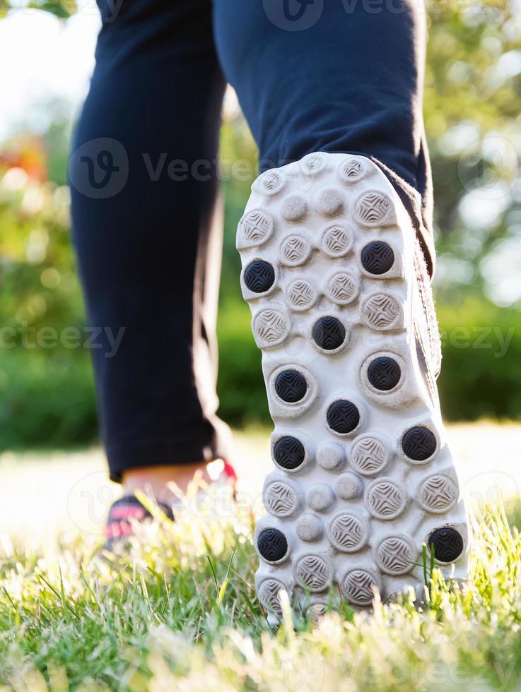 Feet of runner photo
