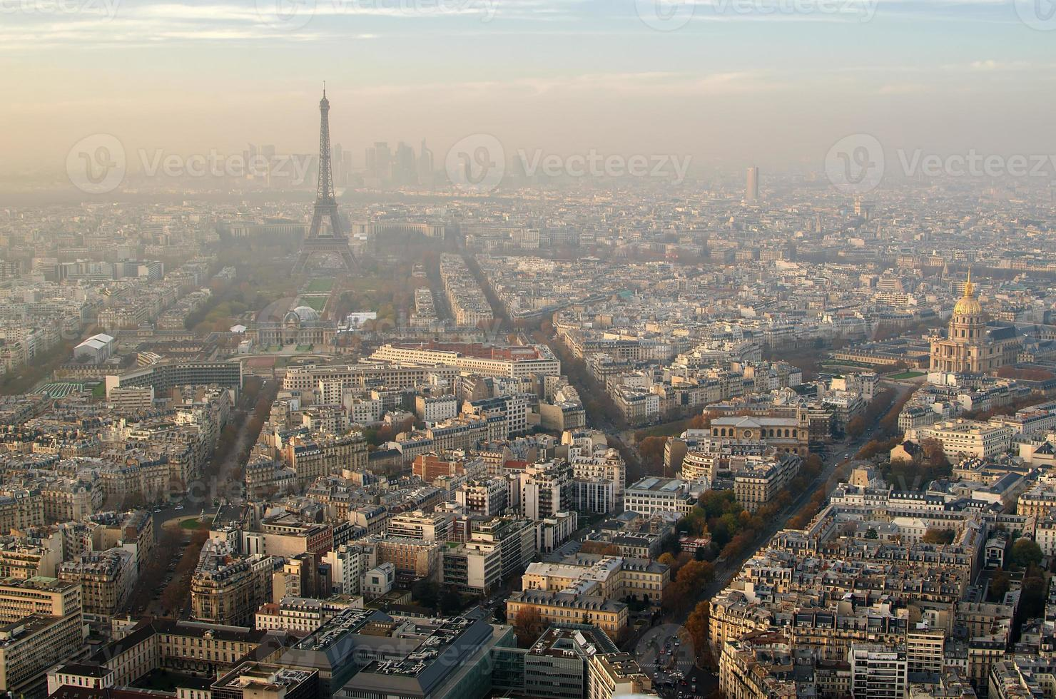 Aerial view of Paris (France) photo