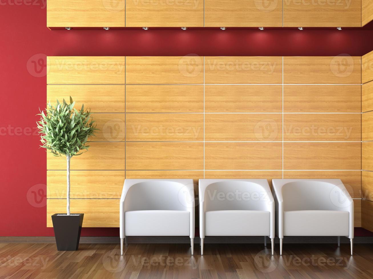 diseño interior de recepción moderna foto