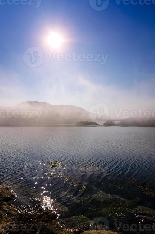 Norwegian foggy morning photo