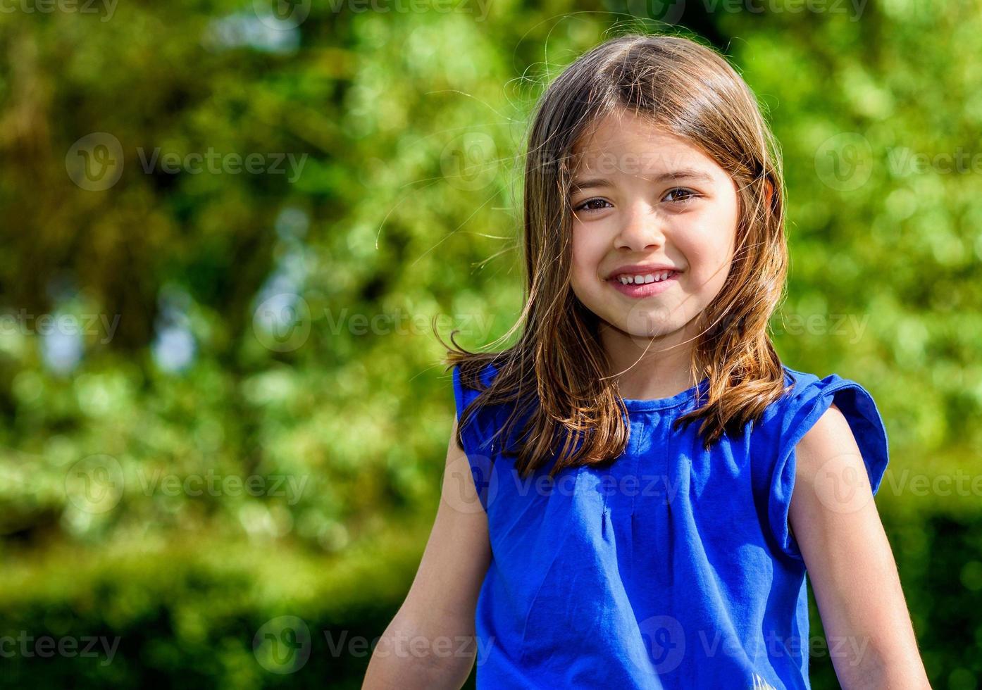 Summer portrait of happy cute child photo