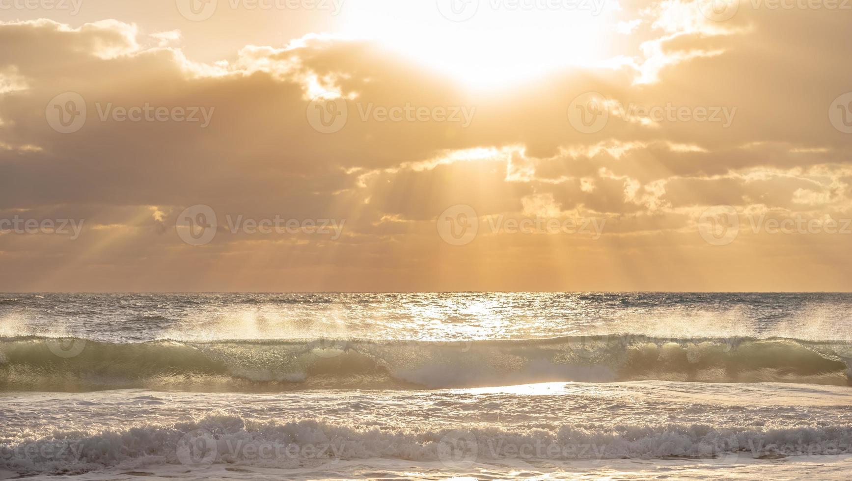 ola del océano. foto