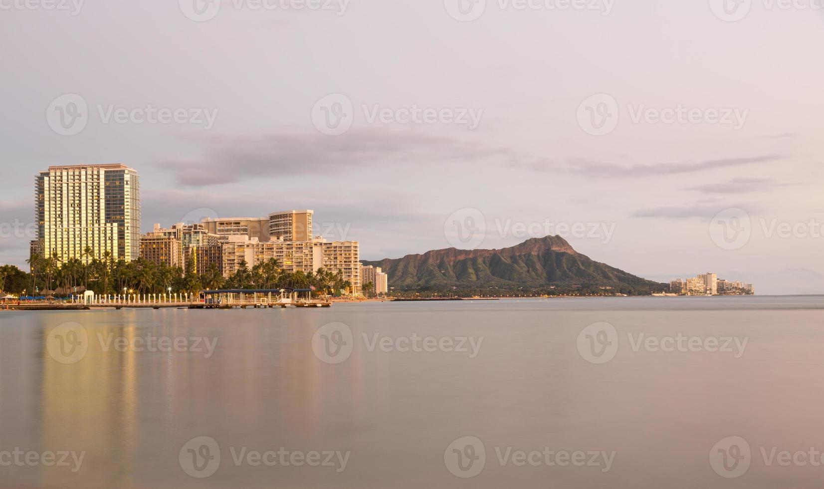 panorama de waikiki oahu hawaii foto