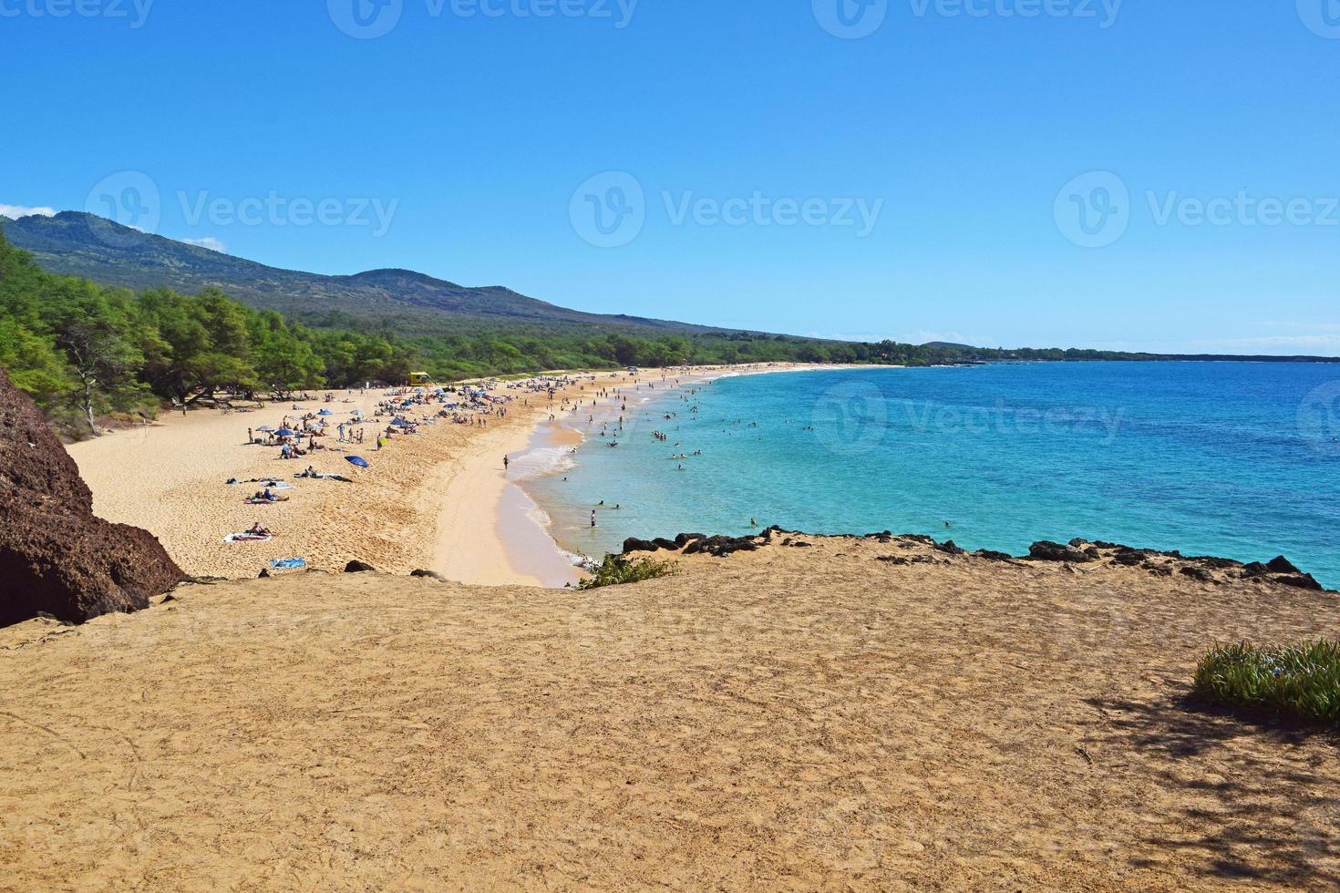 playa del estado de makena foto