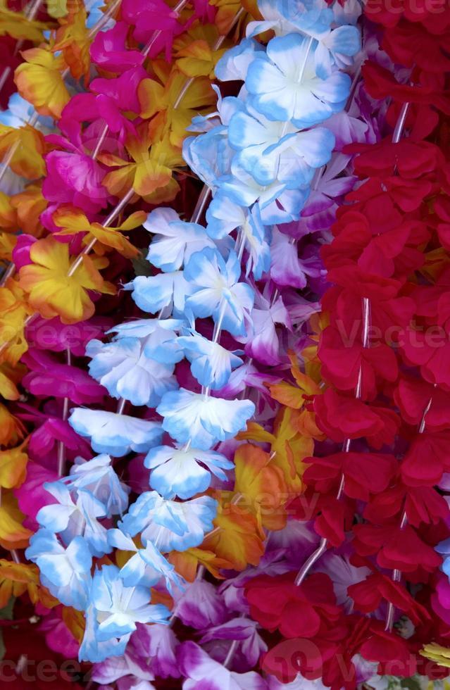 Flower lei background photo