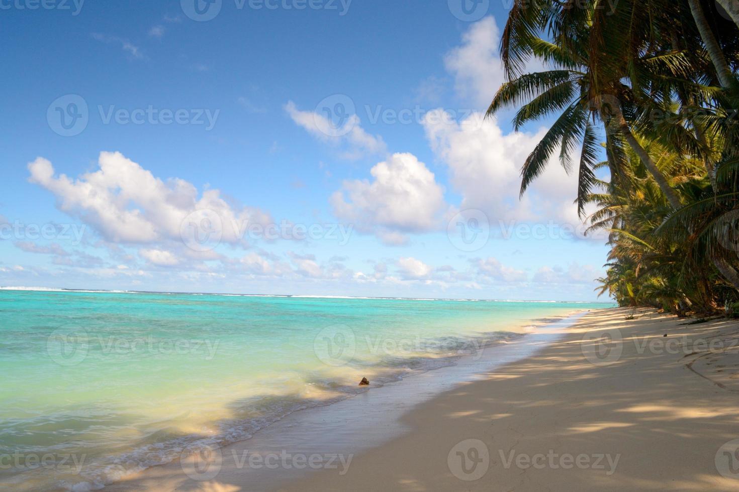 playa tropical sombría foto