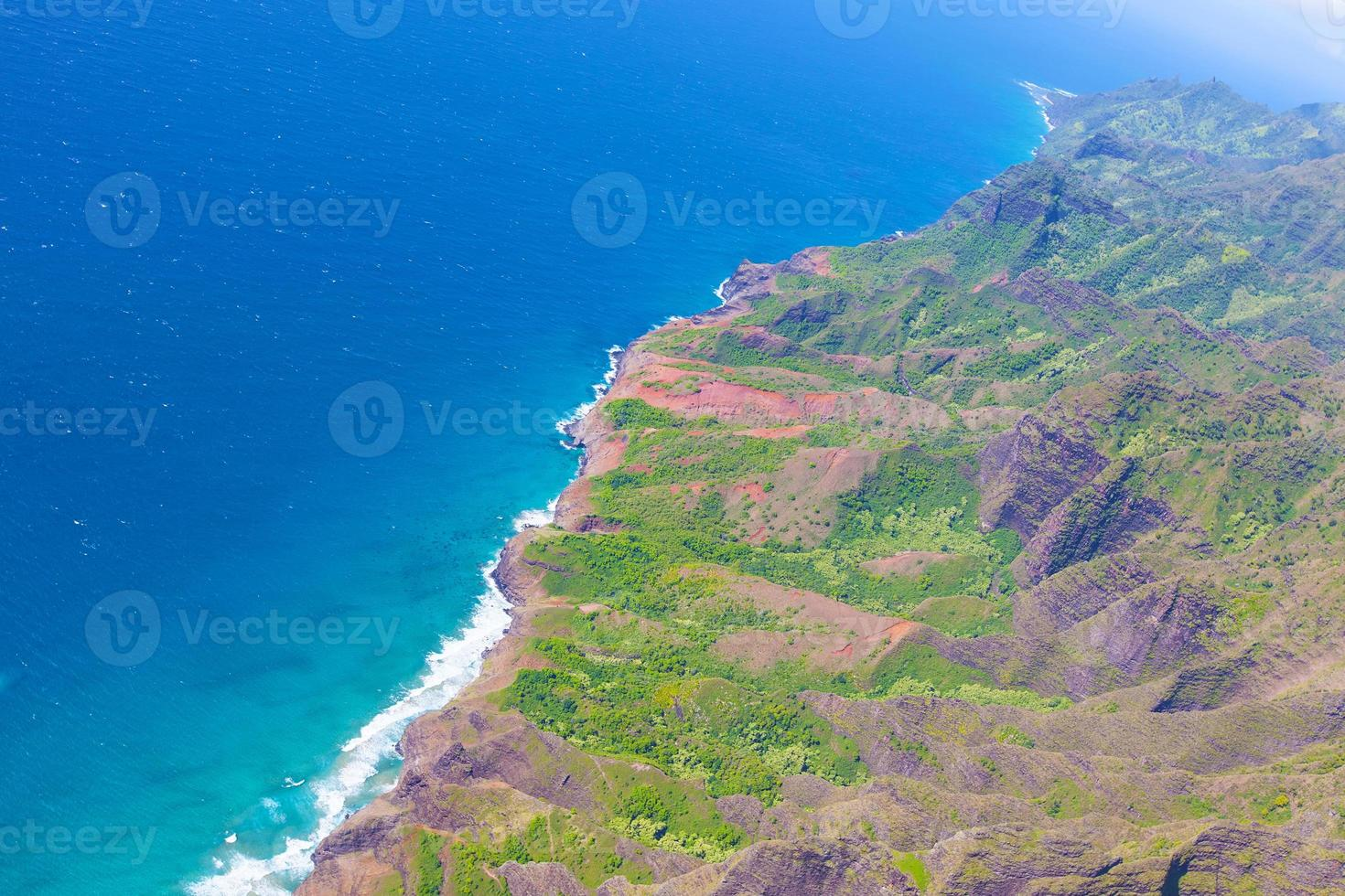 kauai view from helicopter photo