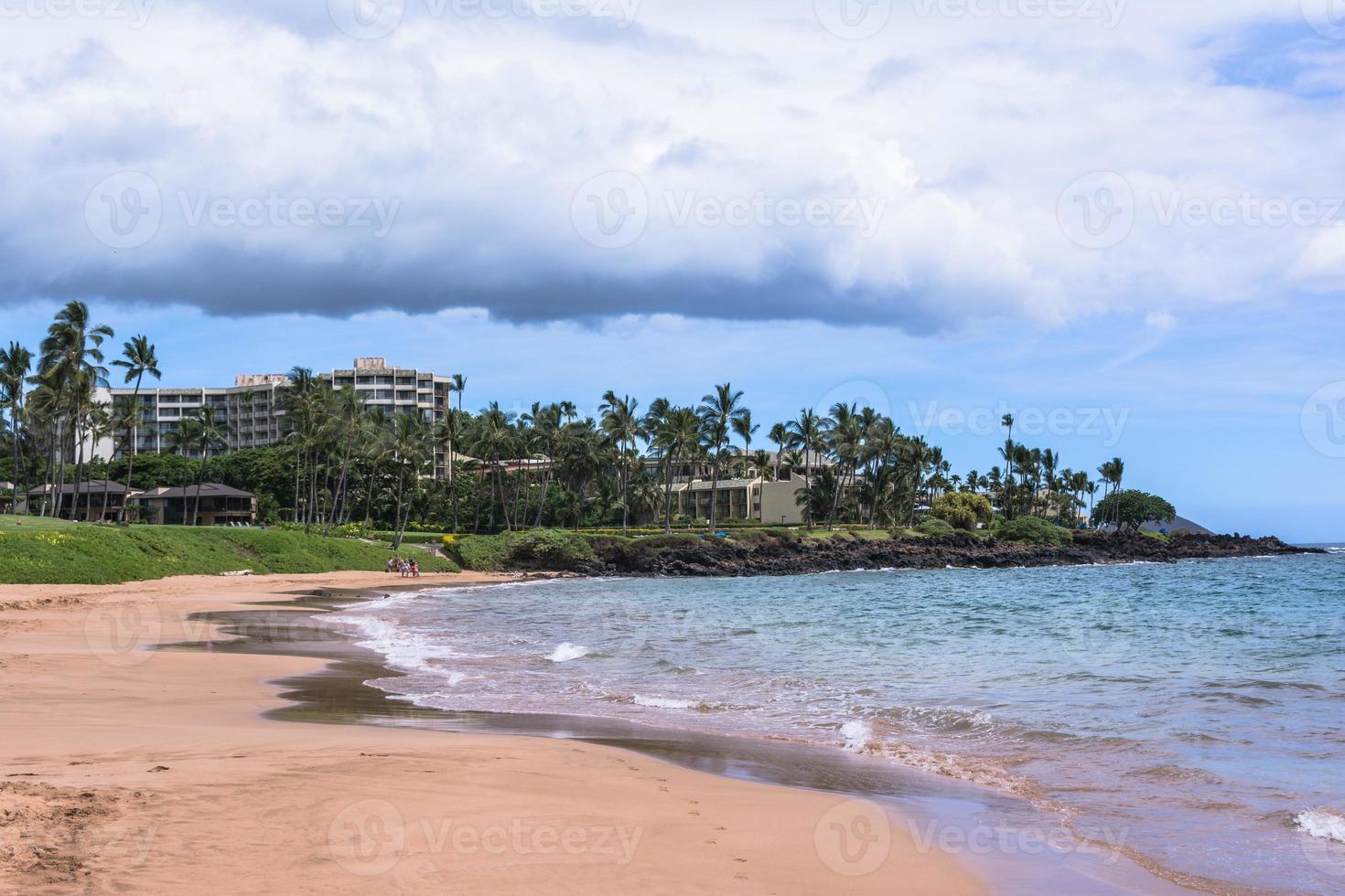 The sand beach at Wailea in Maui, Hawaii photo