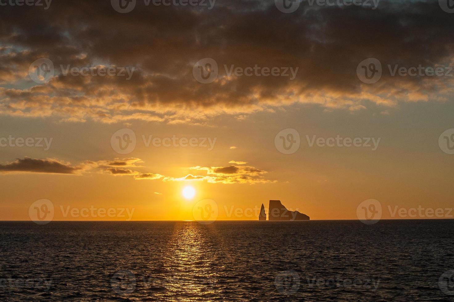 Sunset on the Galapagos Islands, Ecuador photo