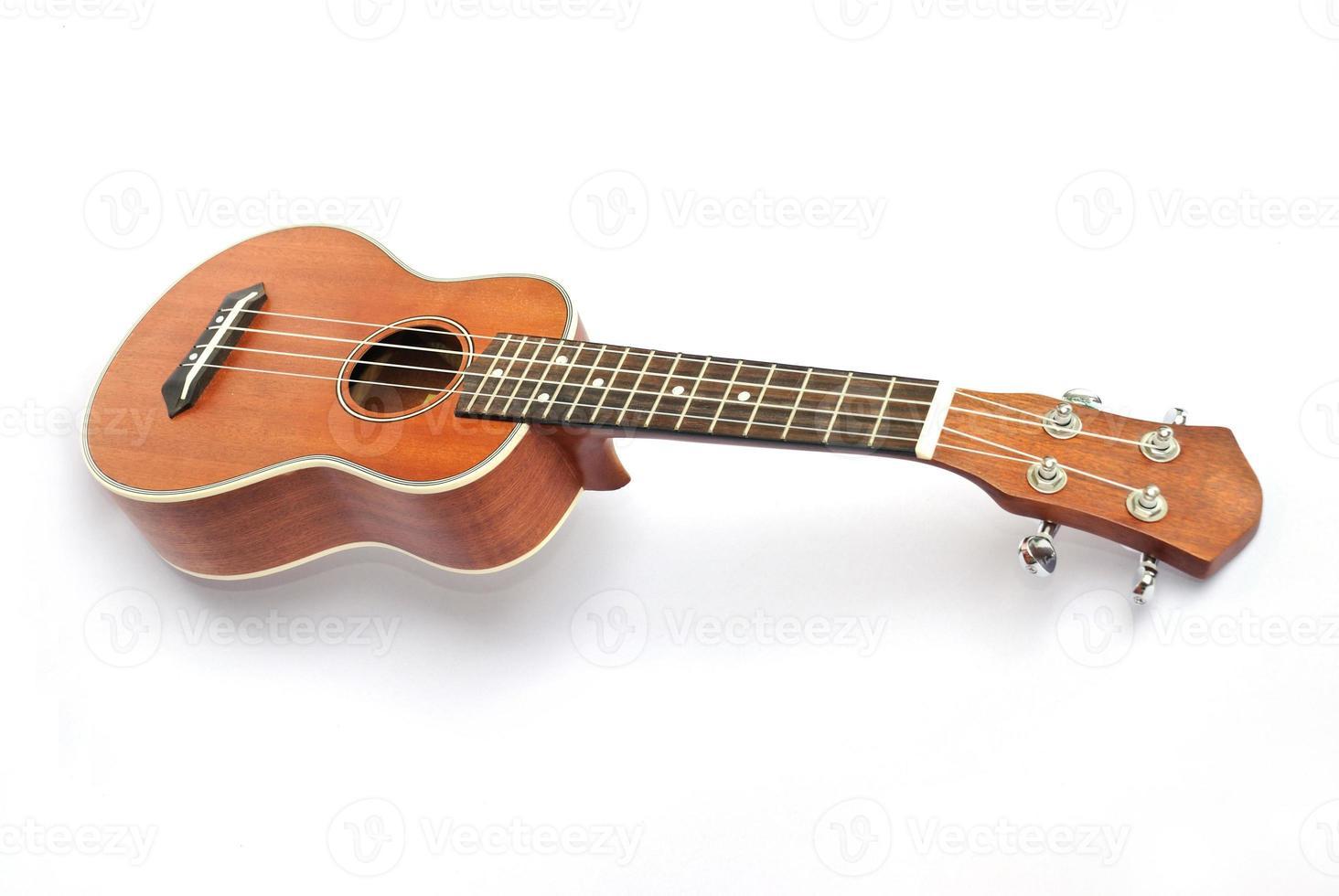 ukulele on the white backgruond photo