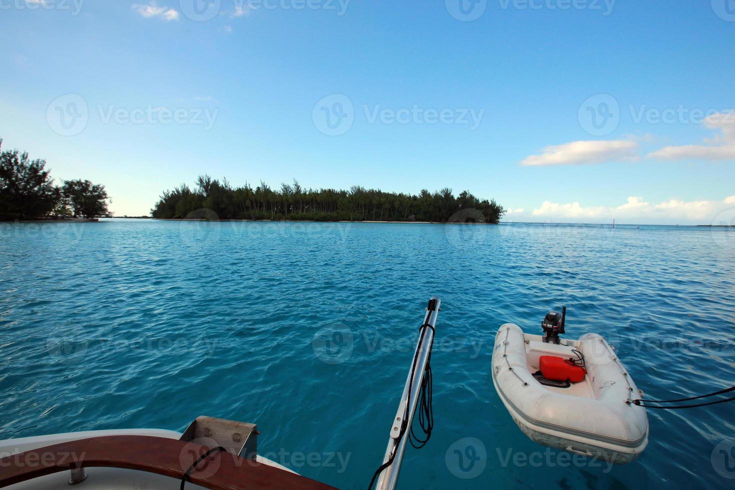 tender on lagoon photo
