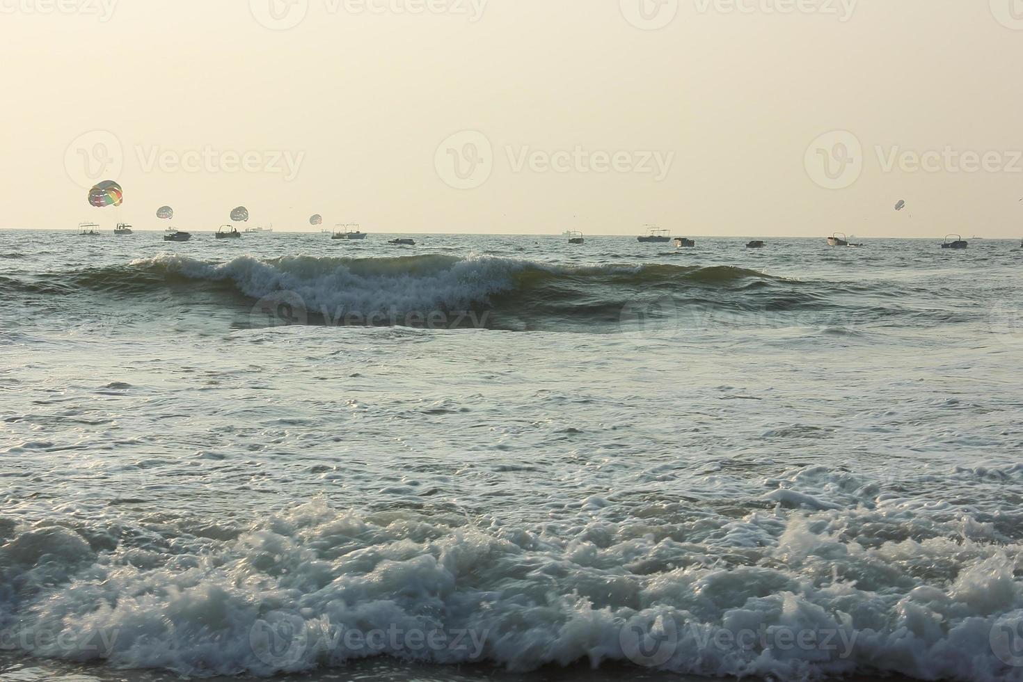 Tides in Caribbean sea photo