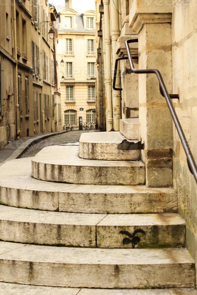 Paris stone streets photo
