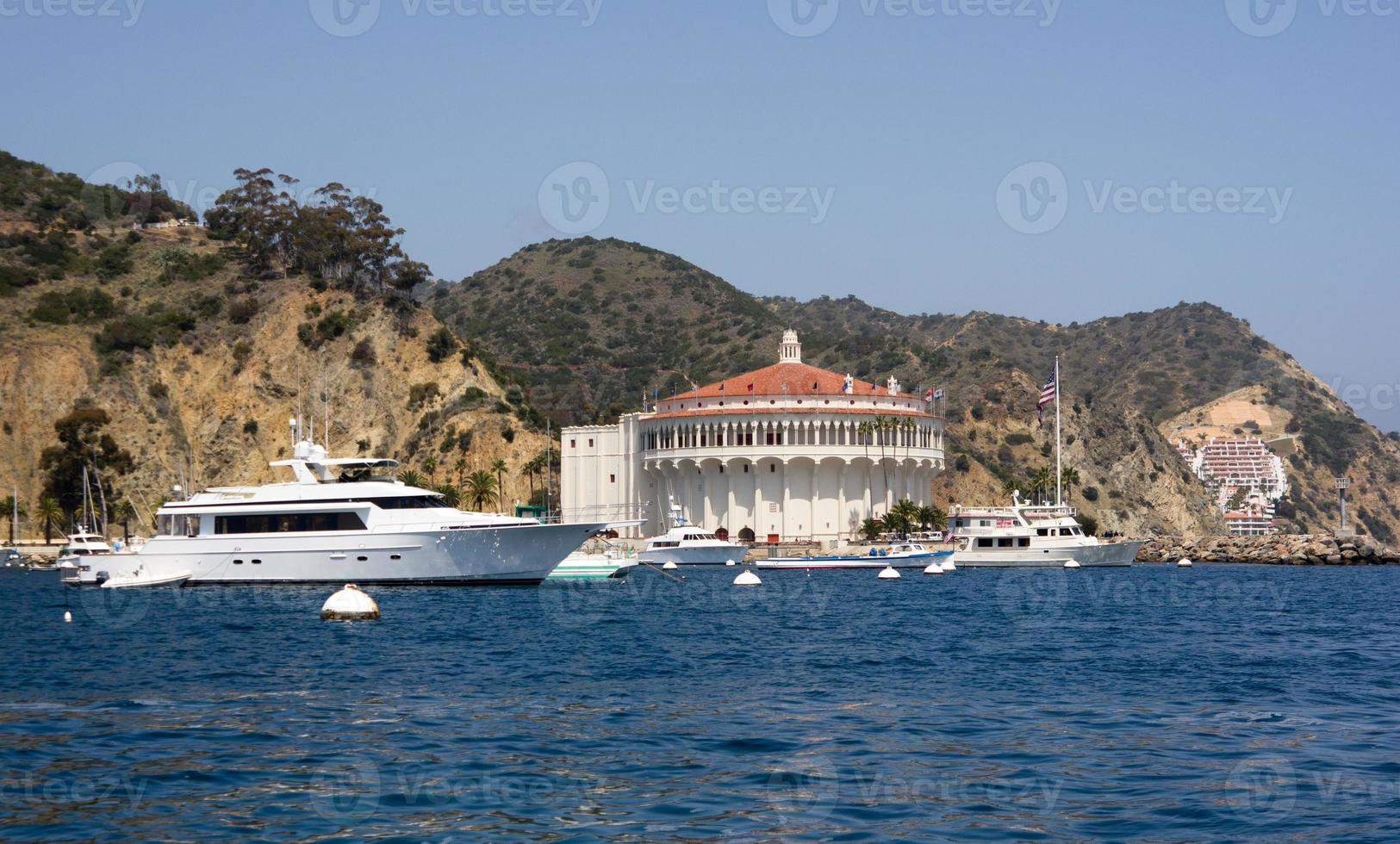 Mega Yacht at Avalon Harbor photo