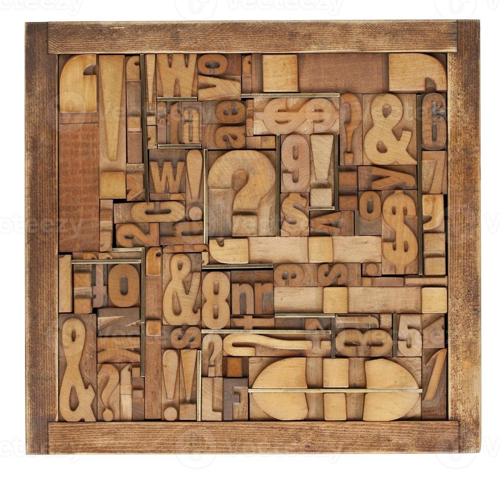 letterpress printing blocks abstract photo