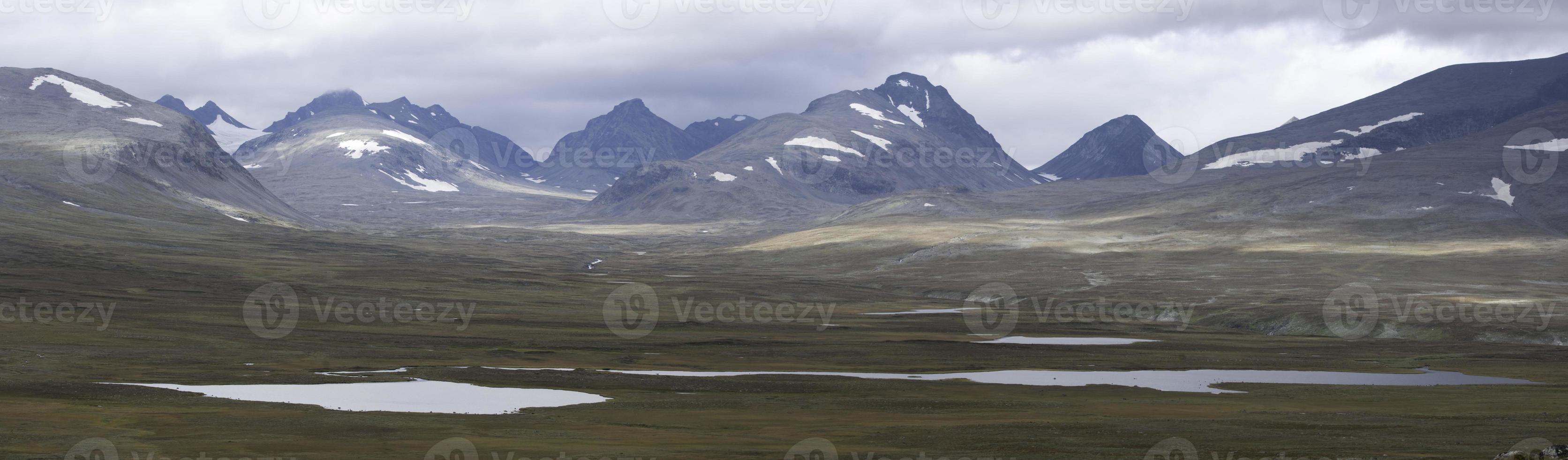 planícies no parque nacional sarek foto