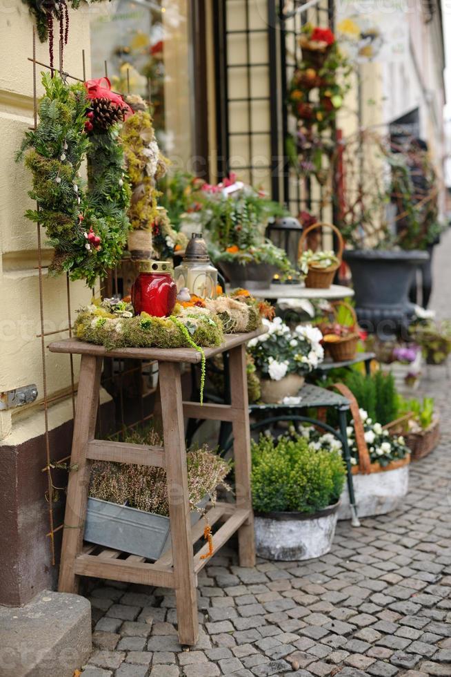 soporte de decoración de navidad foto