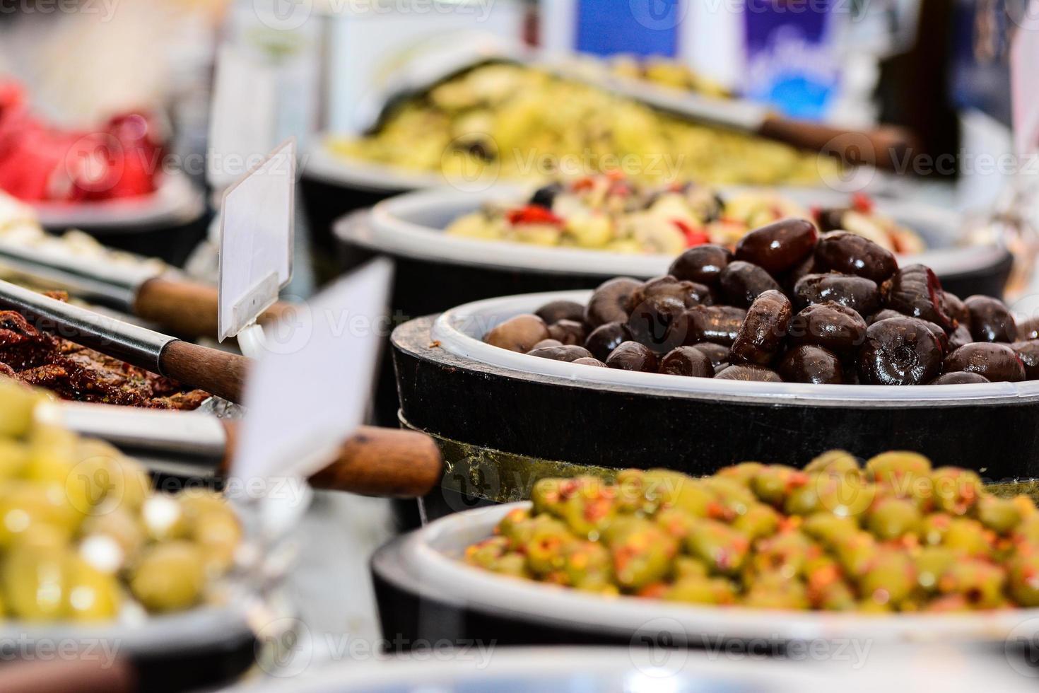 italienische Tabelle des Essens foto