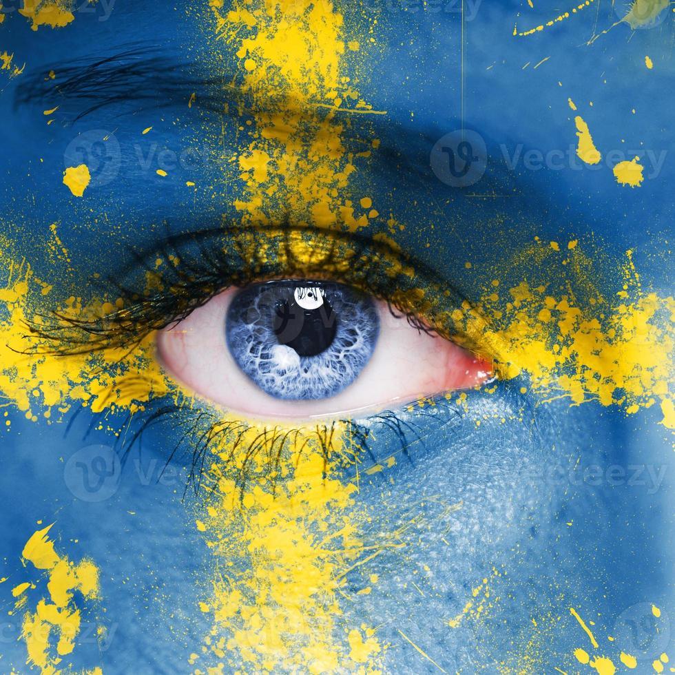 bandeira da suécia foto