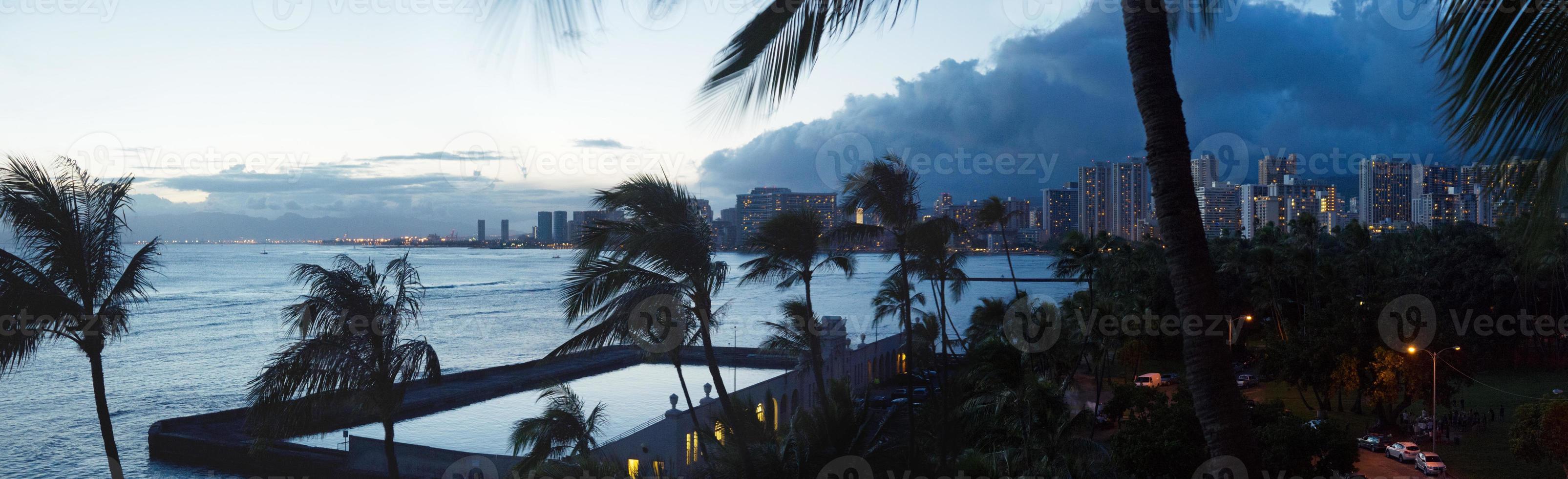 panorama de Waikiki foto
